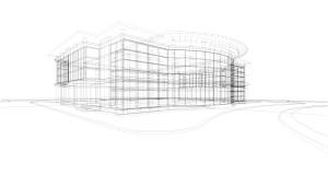 Beispiel-Umriss eines Gewerbegebäudes