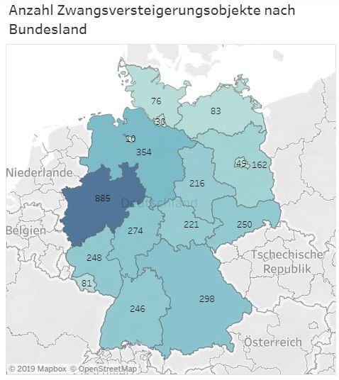Anzahl Zwangsversteigerungen Deutschland